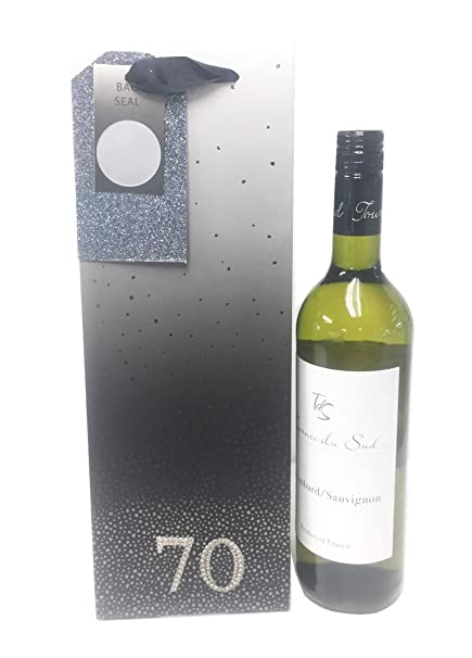 Bolsas de regalo para botella de 70 cumpleaños para hombres ...