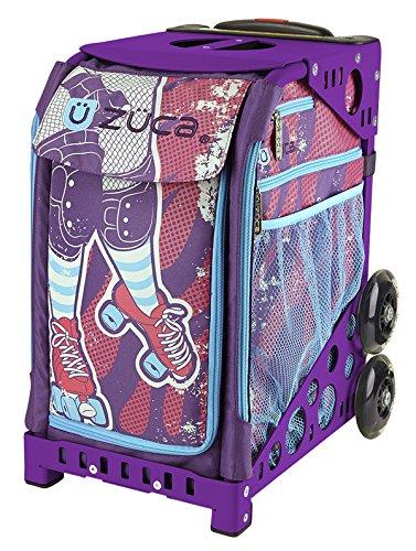 ZUCA Bag Roller Girl Insert & Purple Frame w/ Flashing Wheels