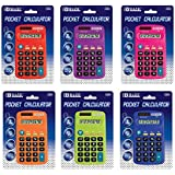 BAZIC 8-Digit Dual Power Pocket Size Calculator (Color may vary)