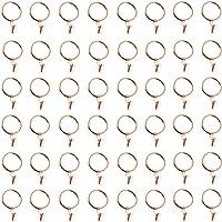 LZYMSZ Vorhang Clips Ringe Metall dekorative rostfreie vorhangringe Gardinenstange Ring mit Clip für Windows, Bad, Home, Küche-OD 39mm