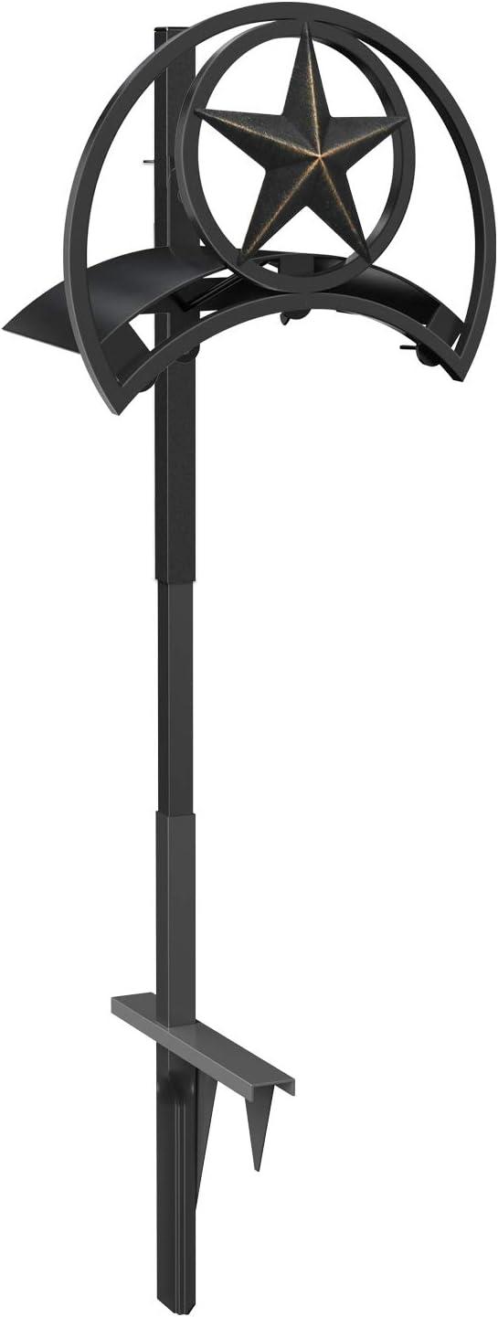 GOFORWILD Garden Hose Holder, Decorative Hose Butler Sturdy Water Hose Rack, Durable Wall Hose Hanger, Holds 125-Feet of 5/8-Inch Hose, Hose Reel, Made of Gauge Steel, 7010