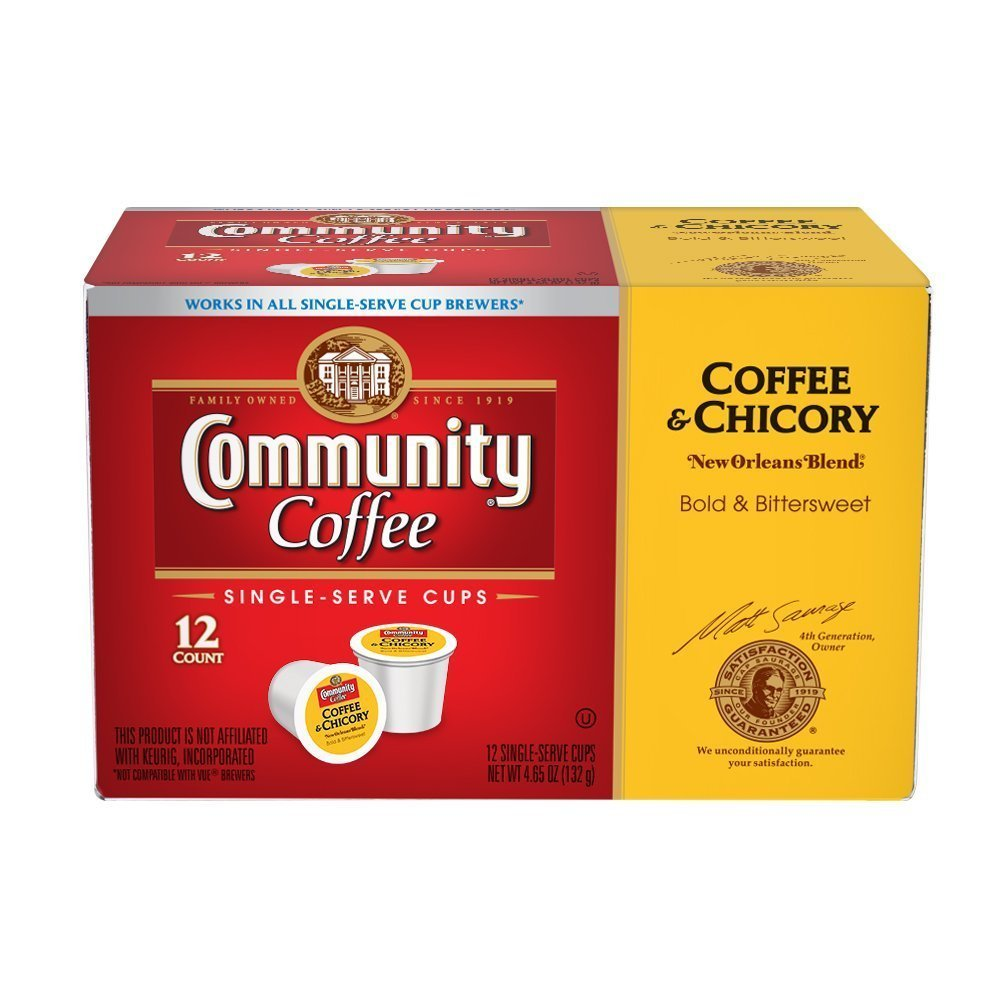 Chicory Coffee Community Coffee New Orleans Blend Coffee Chicory Single Serve K