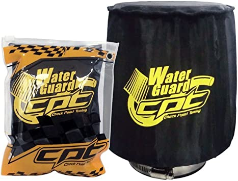 Universal Water Guard Cold Air Intake Pre-Filter Cone Filter Cover Black Medium