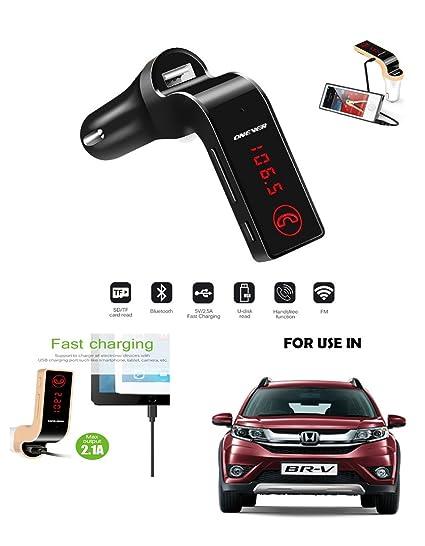 Carg7 Car Lcd Bluetooth Car Charger Fm Kit Mp3 Transmitter Usb Hands Free Mobile For Honda Brv
