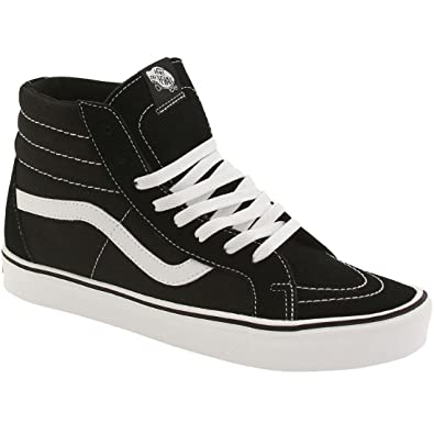 cacece74bcfd Vans Sk8-Hi Lite + Womens Size 7 Suede Canvas Black White Skateboarding  Shoes
