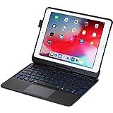 iPad Keyboard Case for iPad 2018 (6th Gen) - iPad 2017 (5th Gen) - iPad Pro 9.7 - iPad Air 2&1-360 Rotatable - Wireless/BT -