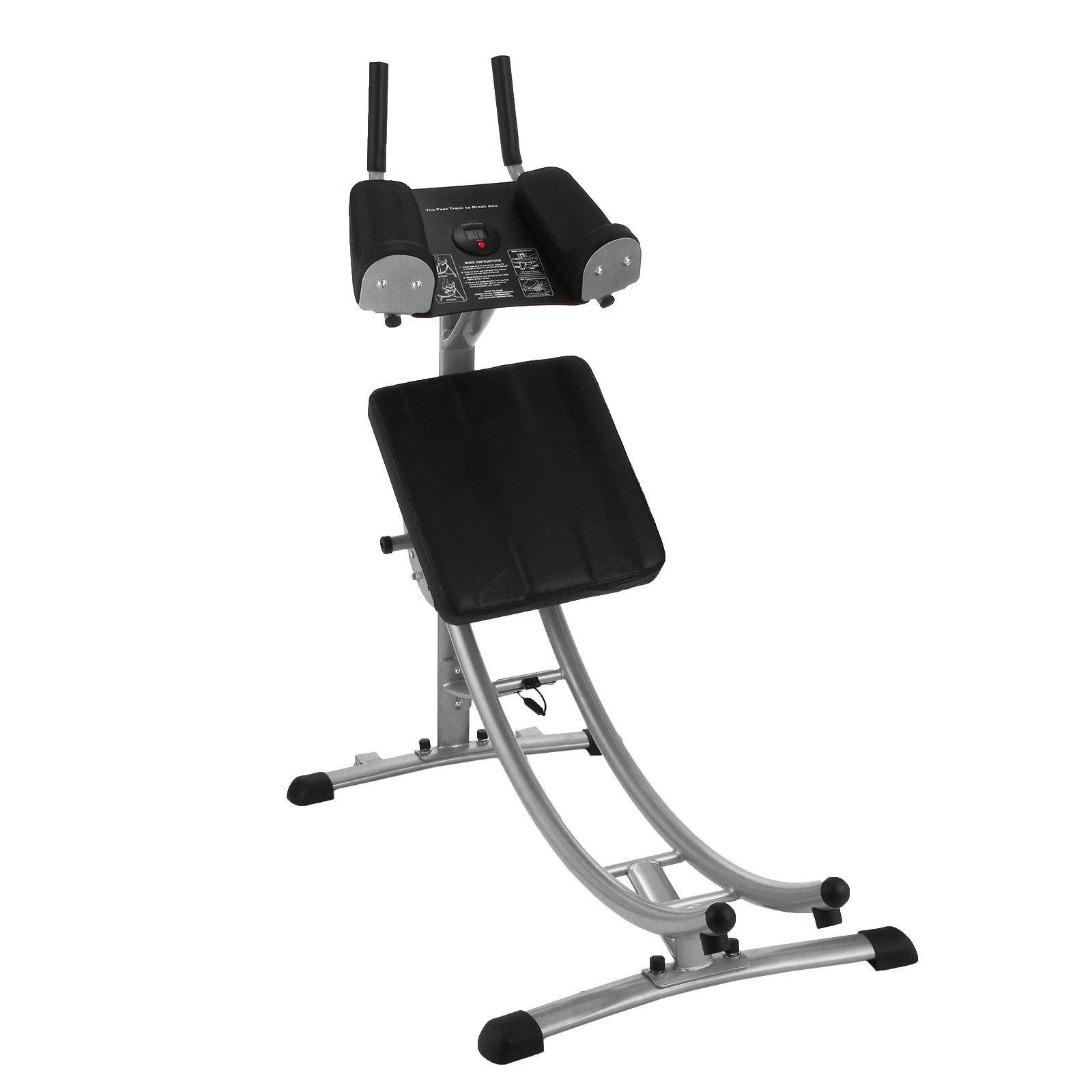 Popsport Abdomen Machine 330LBS Abdominal Coaster Abdomen Exercise Equipment with Adjustable Seat and Electronic Digital Counter for Abdominal Muscle Training (GSC-02 ab coaster) by Popsport (Image #5)