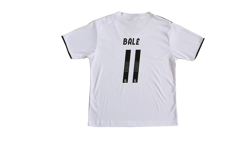 1370cefc0 GamesDur 2018/2019 Real Madrid Bale #11 Home Football Soccer Kids Jersey &  Short & Sock & Soccer Bag ...
