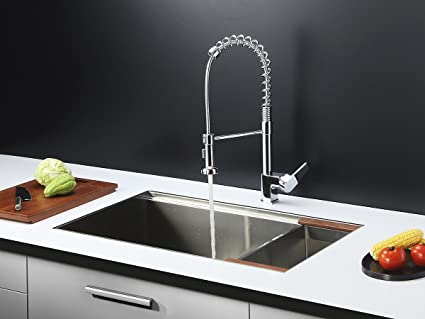 ruvati rvc1371 stainless steel kitchen sink and chrome faucet set rh amazon com