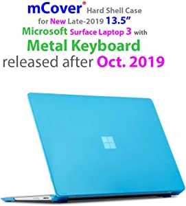 mCover Hard Shell Case for 13.5-inch Microsoft Surface Laptop 3 Computer with Metal Keyboard (NOT Compatible w/Surface Laptop 3/2 / 1 Models w/Alcantara, Surface Book and Tablet) - SL3-MK Aqua