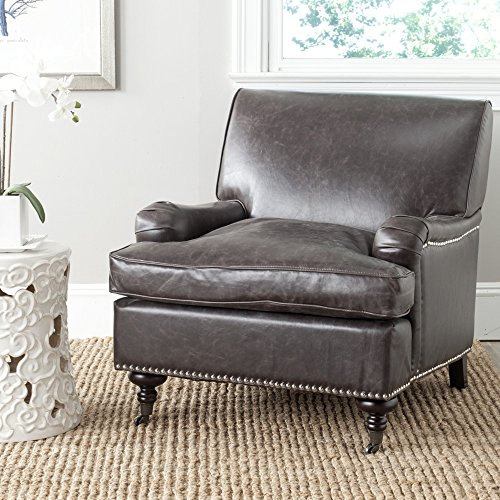 Safavieh Mercer Collection Chloe Club Chair, Antique (Chloe Side Chair)