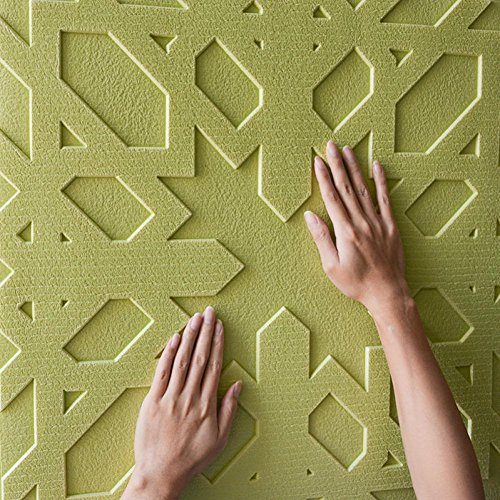 Coohole 3D Brick Wall Stickers, PE Foam Self-adhesive Wallpaper Removable and Waterproof Art Wall Tiles for Background TV Bedroom Living Room Decor (Green)