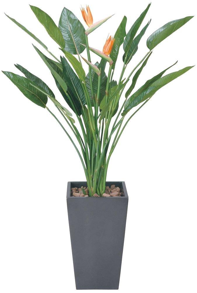 造花 観葉植物 「ART-ストレチア花付 160cm」 光触媒(空気清浄) インテリアグリーン 鉢植え B078S7GCYL