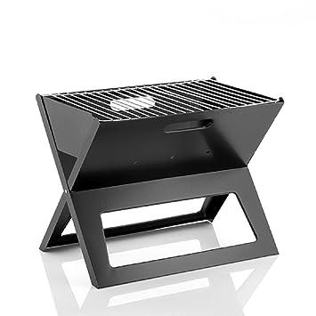 Innovagood barbacoa carbón portátil y plegable, ideal camping, terraza o picnic