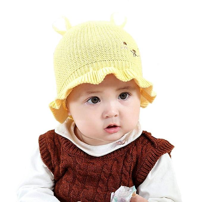 8a41b7ff89e4d Boomly Sombrero De Punto De Lana Gorro De Invierno De Otoño para Bebe Niña  Niño (Amarillo)  Amazon.es  Ropa y accesorios