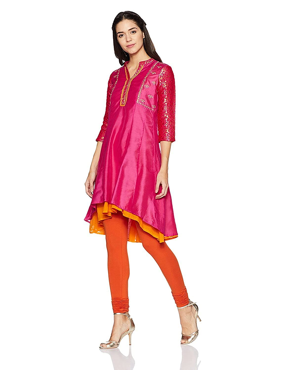 Indian Handicrfats Export Rangriti Women's Anarkali Kurta FKSAR-022692-$P