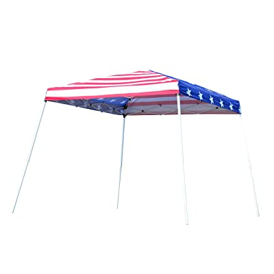 Outsunny 10'x 10' Outdoor Canopy Pop Up Event Tent with Slanted Legs for Events, Weddings, Parties, American Flag : Garden & Outdoor