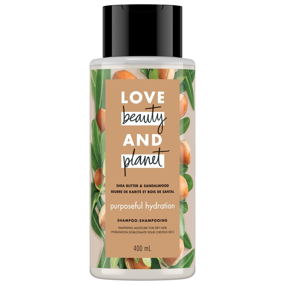 Love Beauty and Planet Shea Butter & Sandalwood Purposeful Hydration Shampoo, 400ml Unilever