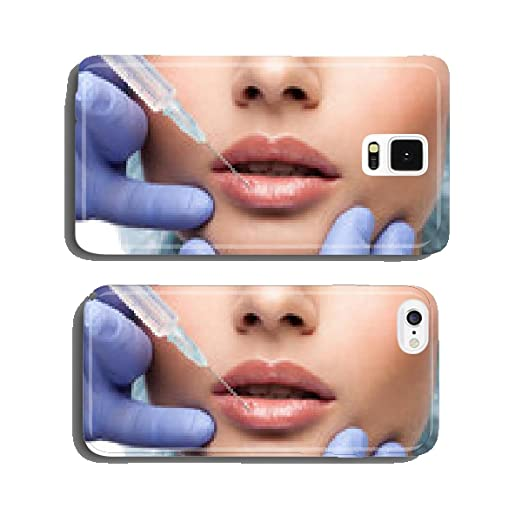 Cosmetic botox injection to the pretty woman face cell phone cover case iPhone5