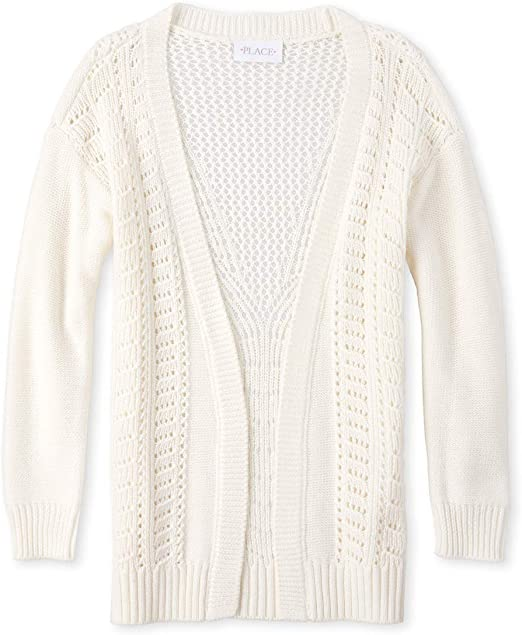 The Childrens Place Baby Girls Long Sleeve Solid Cardigan