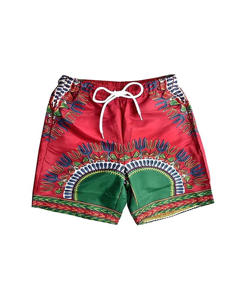5c51090cab Quick dry, breathable and lightweight, comfortable boardshorts, wearing it  in summer. Ethnic trunks with tropical inspired prints, 7 colors to choose.