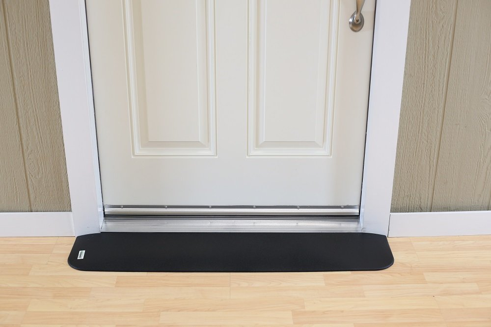 EZ Edge Transition Threshold Ramp - 3/4'' H x 6-1/2'' L x 41-1/2'' W by SafePath Products