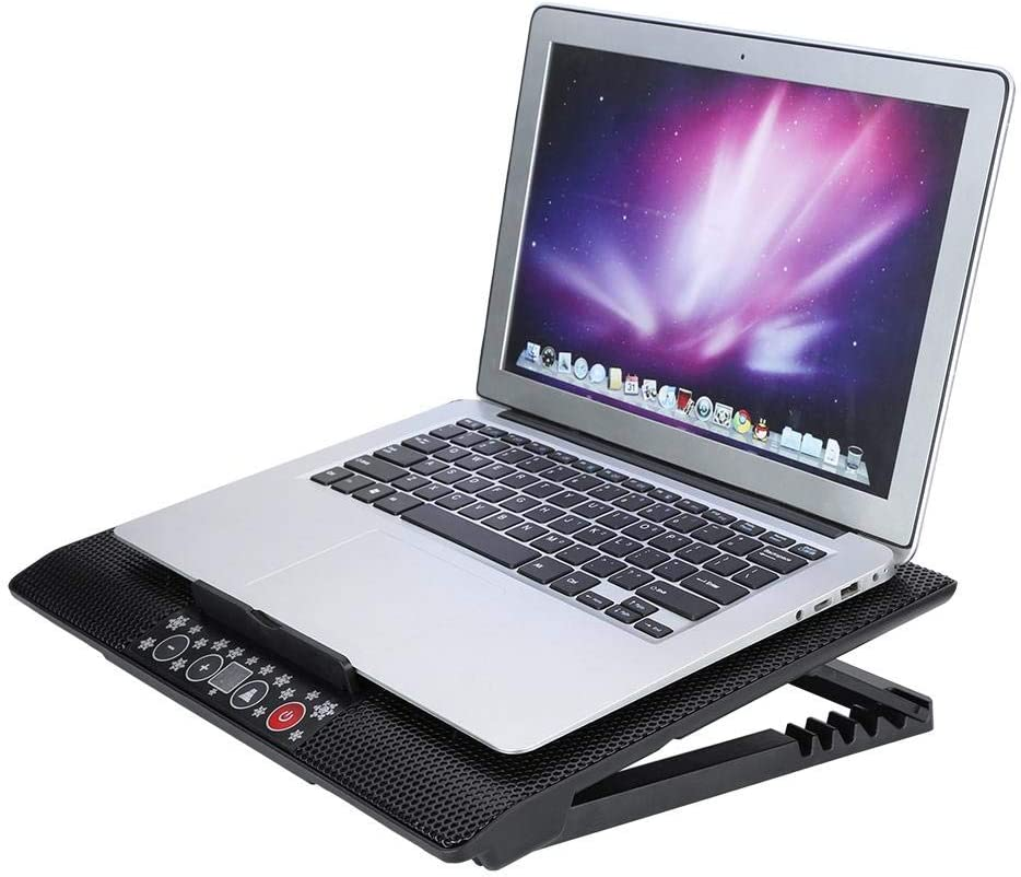 Cooling Fan Fishlor USB Computer Fan Cool Fan USB Laptop Cooler Cooling Pad Base USB 6 Fans Adjustable Angle Mounts Stand 17 or Below Notebook