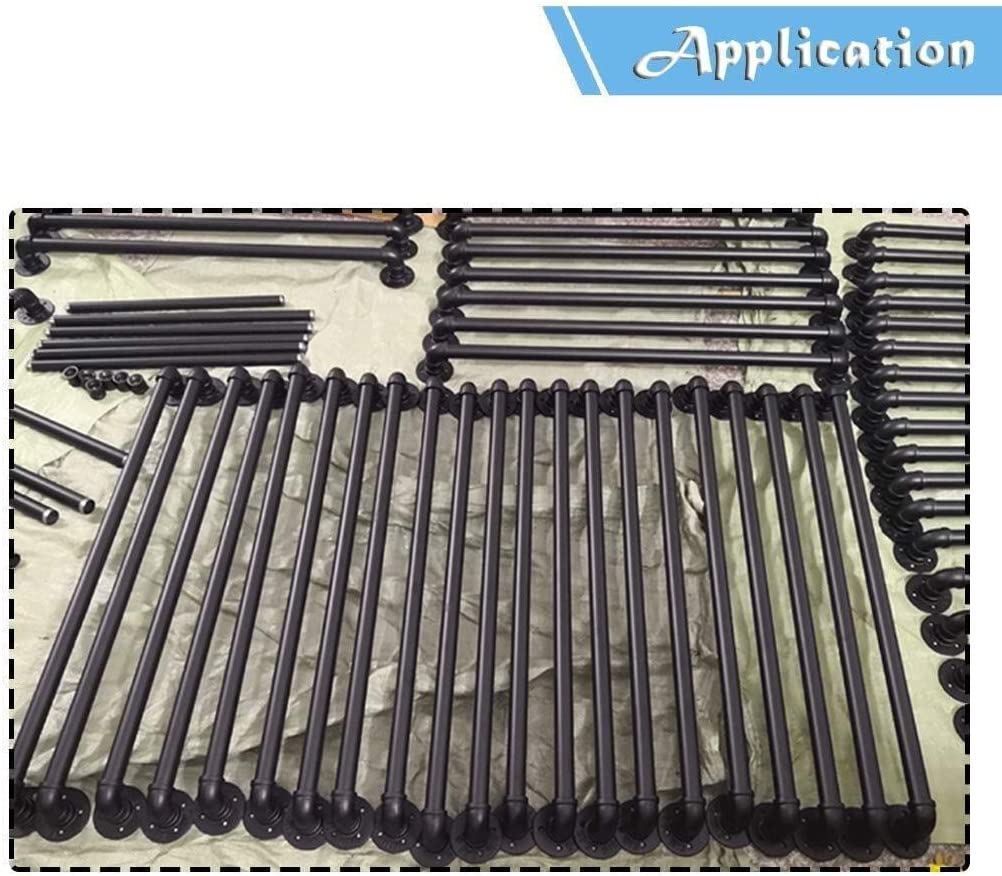 Rail for Escaliers Garde-corps Rampes int/érieur plomb direct Stairwell Porte-Maison ou Cave entryway accoudoi Liuyu /· Supports for Main courante Ext/érieur Int/érieur noir Escaliers mat M/étal Fer Forg/é