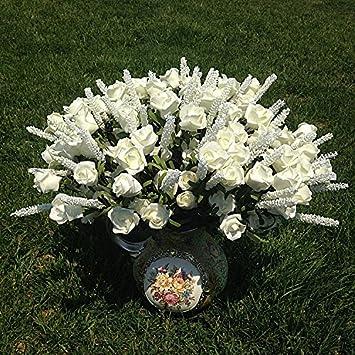 Kicode Lavendel Rosen Blumen Vintage Silk Kunstlich Hochzeitsdeko