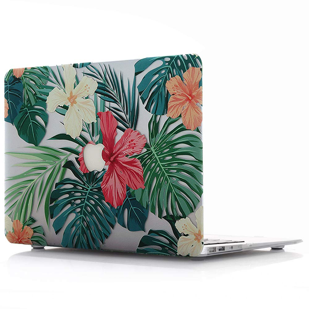 Hü lle Blumen Muster Case - fü r Apple MacBook Pro 15,4 Zoll 2016/2017/2018 Modell:A1707 A1990 - Plastik Tasche Schutzhü lle Hartschalen Cover, Palmblä tter 3 AQYLQ