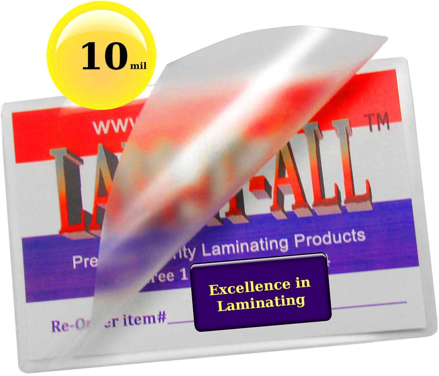 "64mm x 98mm Key Card Laminating Pouches 7 mil 2 1//2/"" x 3 7//8/"""