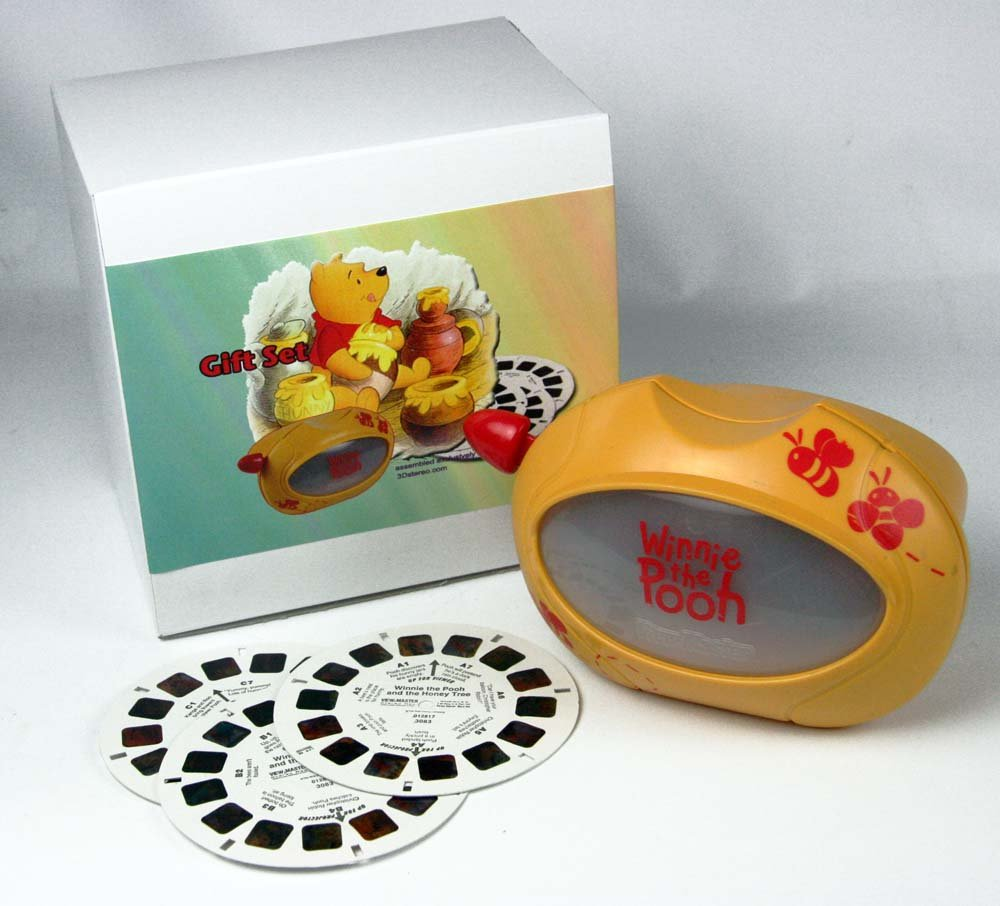 ViewMaster Classic WINNIE THE POOH - Virtual Viewer, which produces a 50% larger image and Reels by 3Dstereo Gift Set (Image #1)
