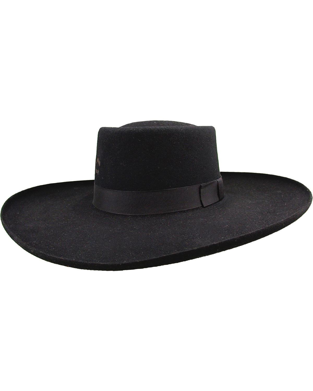 Charlie 1 Horse Unisex Tattoos and Scars Wool Felt Hat Black 7 1/4