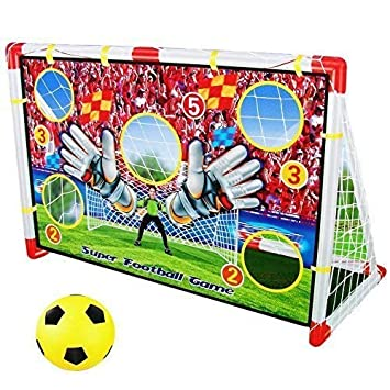 Dominiti Ek 2in1 Torwand Fur Innen Mit Netz Fussball Tor Mit Ball Fussball Spielen Fur Kinder Kinderzimmer