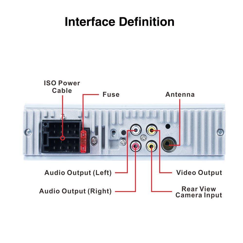Reproductor est/éreo para Auto MP5 con Pantalla de 4.1 Pulgadas Admite la funci/ón de Control de Imagen de Marcha atr/ás Controles del Volante Bluetooth Automotriz
