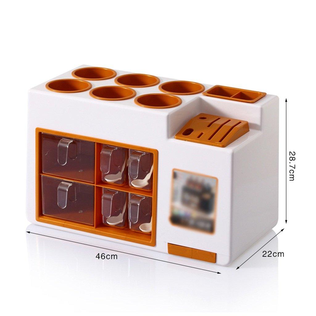 GAODUZI クリエイティブファッションキッチンセットセット多機能ストレージセット調味料調味料ボックスディスペンシングボトルリークツールホルダー ( 色 : D ) B07BJXN81C D D