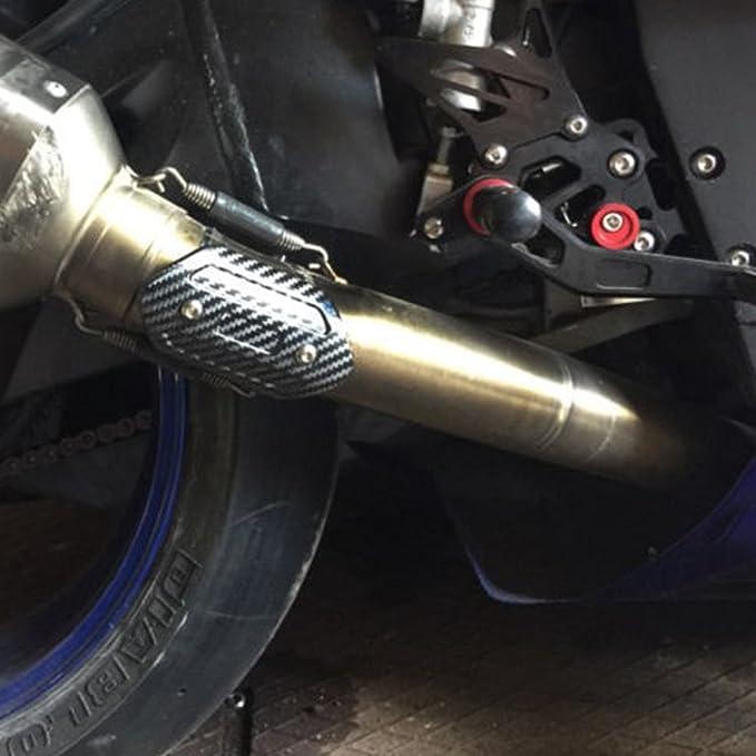 KIMISS Modifiche al motociclo Scudo termico anti-scottatura in fibra di carbonio a sezione centrale 3