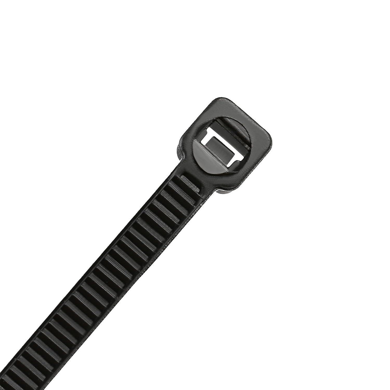300 x 3mm GWHOLE 200 Piezas Bridas para Cables de Nylon Sujetacables Cable Tie de Pl/ástico Negro