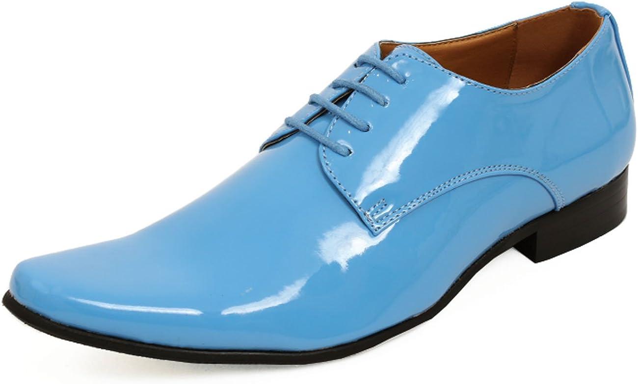 Dobell Mens Baby Blue Dress Shoes