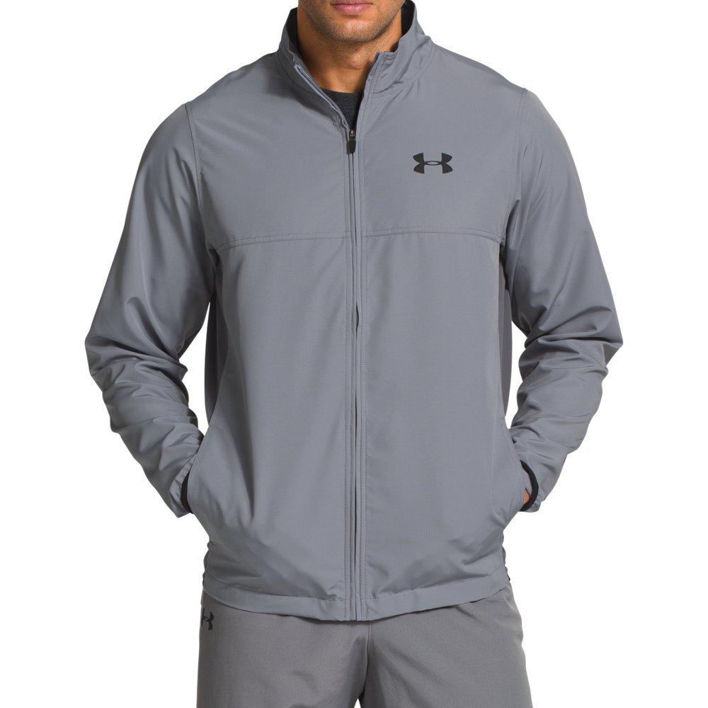 Under Armour Men's Vital Warm-Up Jacket, Steel/Black, Medium