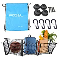 Cargo Net Three Pocket Car Trunk Net – POZEL Trunk Organizer – Your Solution To Organizing Worries