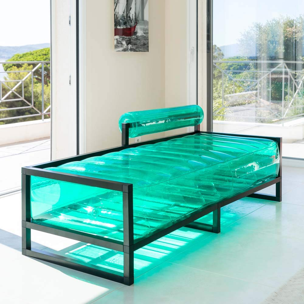 Mojow - Sofá Inflable Meridienne con Estructura Metalica ...