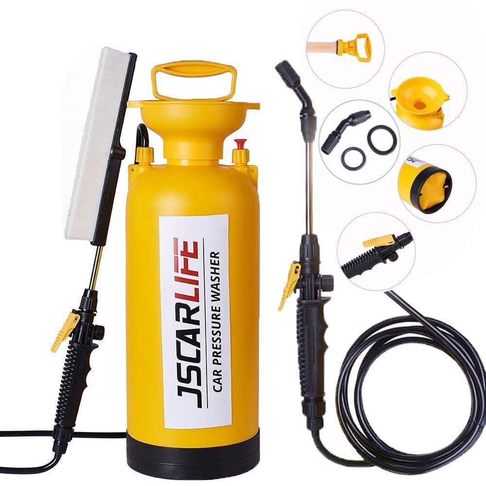 Jscarlife Portable Pressure Washer Car Caravan Bike Hand Pump 8L Power Sprayer Pump Action Pressure Sprayer