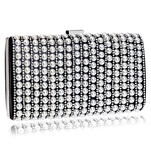 Clutch Mini Purse Banquet Bag Pearl Shoulder for Bag Female's Handbag Party Black Dinner Crossbody Evening wqxIf