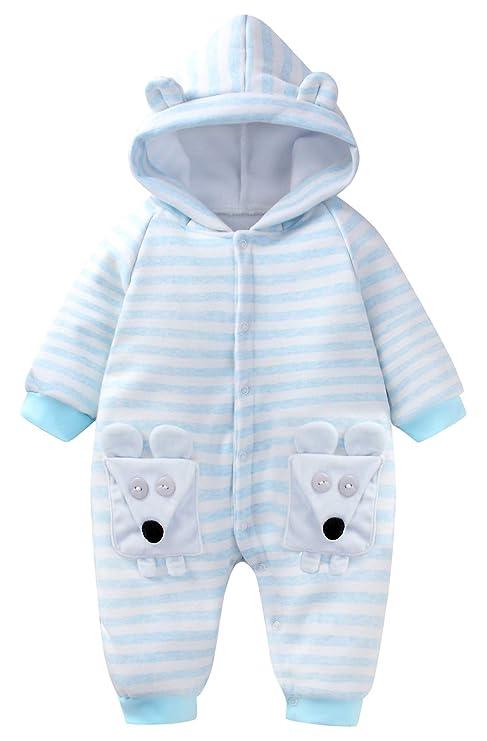 Happy Cherry - Bebé Saco de Dormir de Algodón con Capucha Infantil Cálido Pijama de Bebé