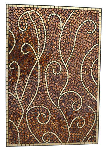 Lulu Decor, Baltic Amber Lines Wall Art, Decorative Handmade Wall Art, Diameter Perfect for Housewarming Gift. (LP401)