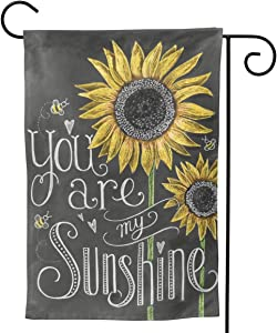 "You are My Sunshine Sunflower Garden Flag Double Sided Vertical You are My Sunshine Sunflower House Flags Yard Signs Outdoor Decor 12.5"" X 18"""