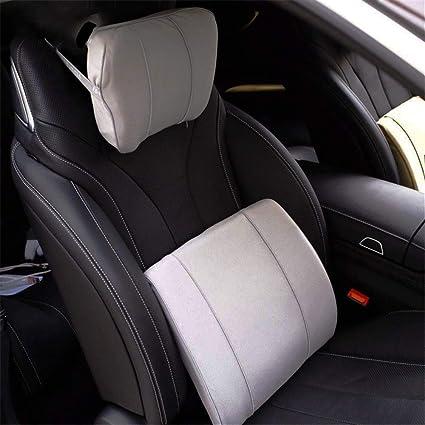 Amazon com: JUZZQ Car Headrest Lumbar Support Set,Memory
