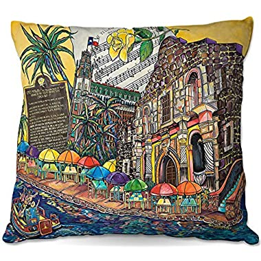 Decorative Outdoor Patio Couch Throw Pillows from DiaNoche Designs by Patti Schermerhorn Yellow Rose texas BBQ Garden Outdoor Ideas