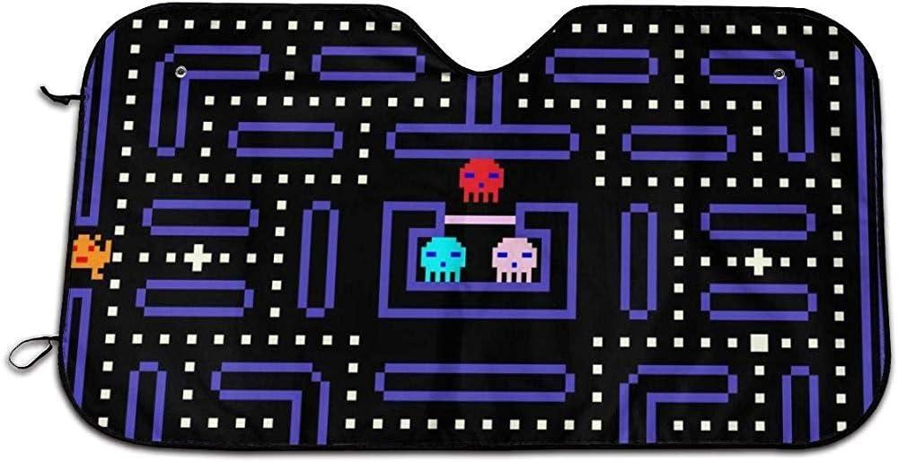 Vecchio Design di Videogiochi Gioco Pixel Arcade retr/ò a 8 Bit Kncsru Visiera Parasole per Parabrezza